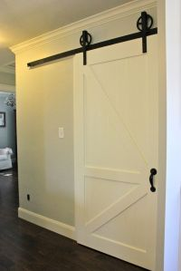 sliding door for separating finished and unfinished ...