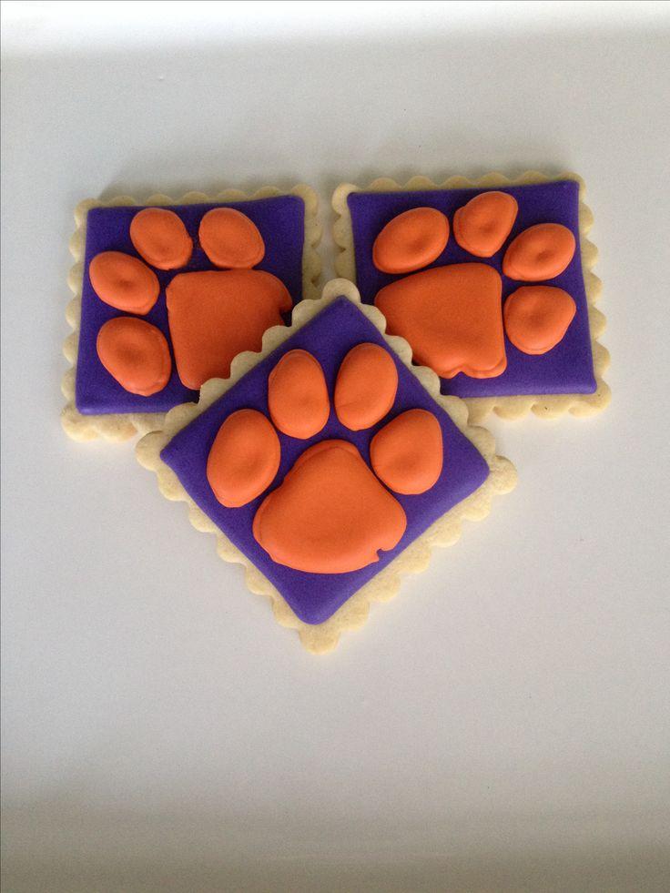 Clemson Tiger Paw Cookies Cookies Pinterest Tigers
