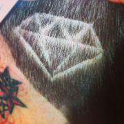 hair. shaved head design diamond