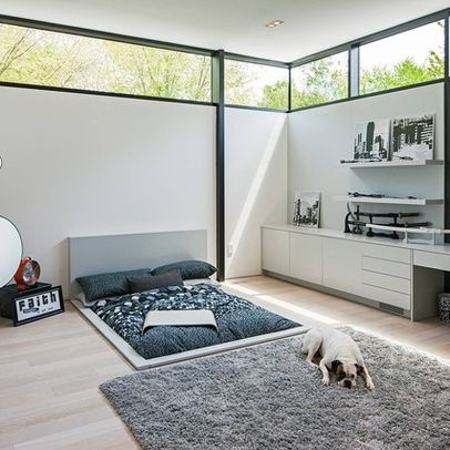 Modern bed sunk into floor  Modern Bedroom  Pinterest