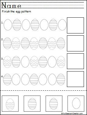 Finish the Easter egg patterns. This is a free color, cut