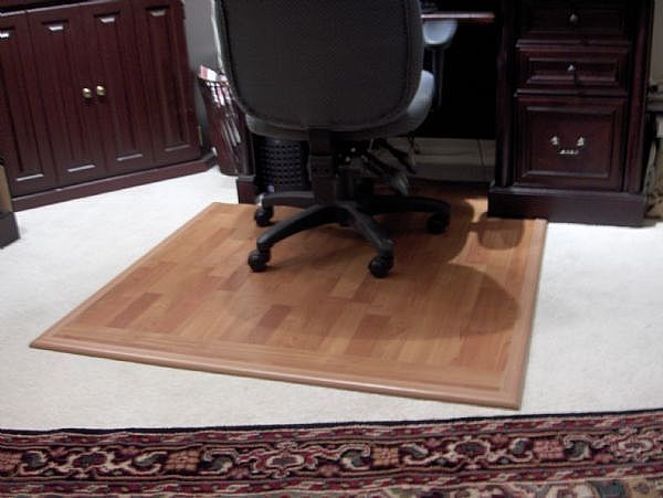 office chair mat for hardwood floors rocking and ottoman how to make a hard surface desk on carpet   carpets, chairs