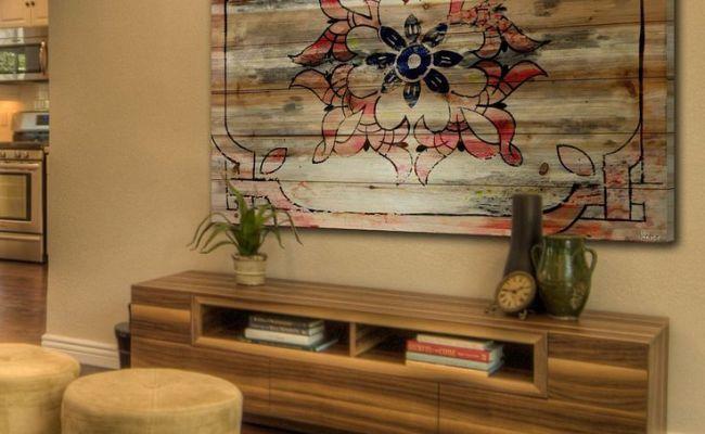 Todrha Brown Distressed Wood Wall Art För Thë Hömë