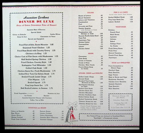Vintage menu Use as reference for authentic menu items  50s Sock Hop  Pinterest  Vintage