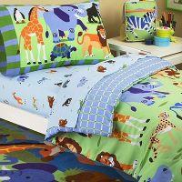 jungle bedding for kids | Jungle Safari Animals Toddler ...