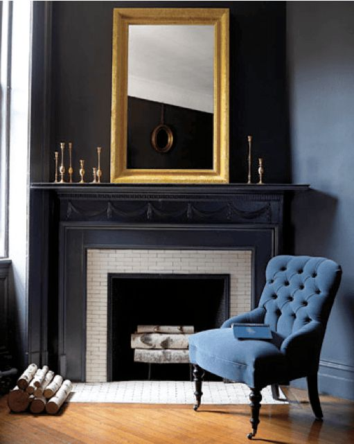 dark blue velvet accent chair rocking footstool 1000+ ideas about black fireplace mantels on pinterest | tv shelf, floating shelves and ...