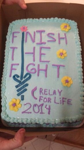 Relay for Life cake Cakescupcakes decorating