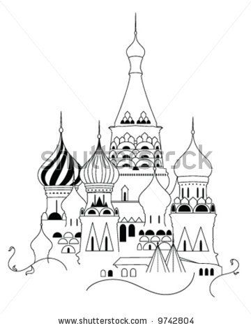 Cathedral of Saint Basil the Blessed at the Red Square of
