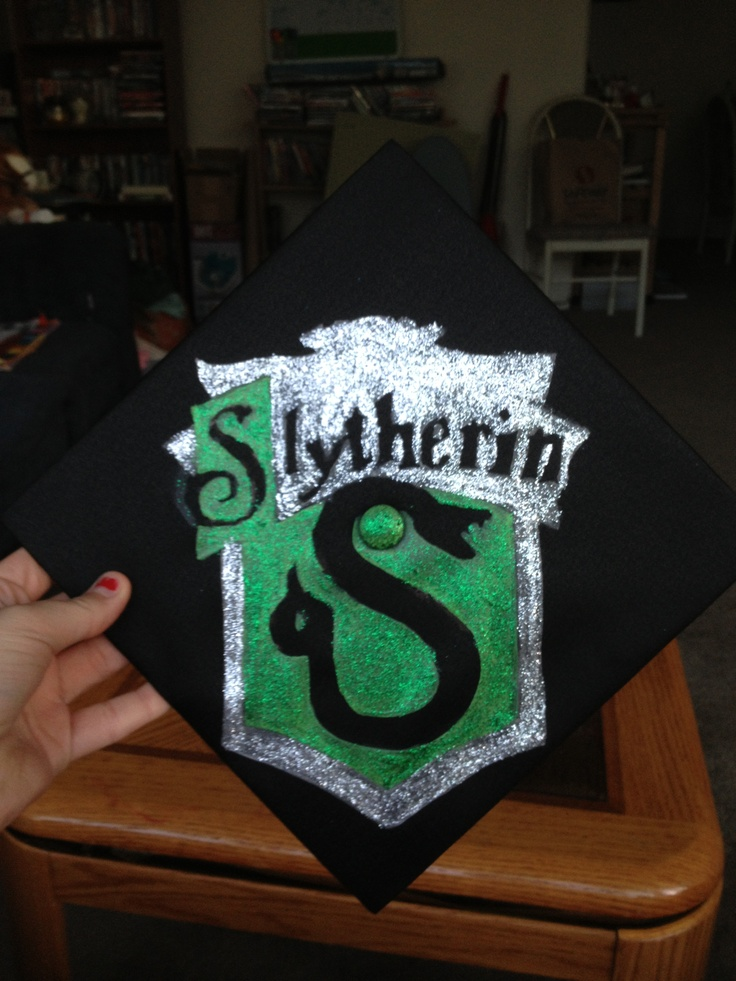 Slytherin Graduation Cap Decoration Found Template Thanks
