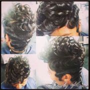 cute finger waves making