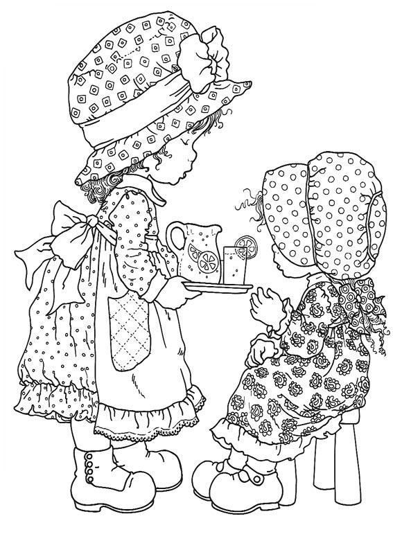 cute coloring pages:-) this is the old holly hobby my