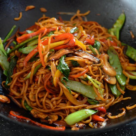 Healthy, authentic Vegetable Lo Mein – SO MUCH BETTER than takeout!