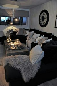 25+ best ideas about Black Sectional on Pinterest