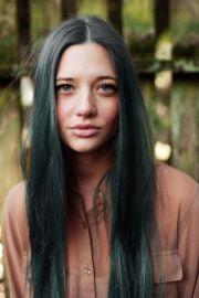 dark green hair hairy
