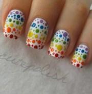 rainbow polka dot nails cutepolish