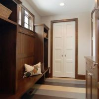 White Trim with Wood Doors | Dark Wood Trim w/ white doors ...