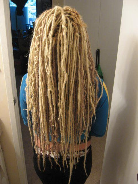 Extra long blonde DE synth dreads with some wave  fake dreads  Pinterest  Dreads Blondes