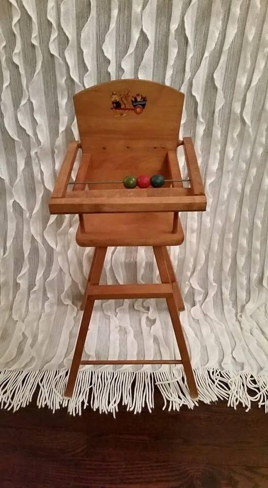 Wood Baby High Chair