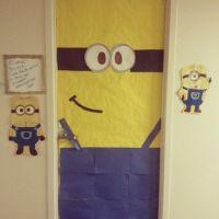 Happy Halloween! Despicable Me dorm door(: | Dorm Stuff ...