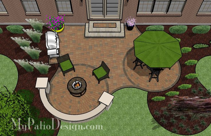 Circle Pavers and Curves Patio  Patio Designs  Ideas