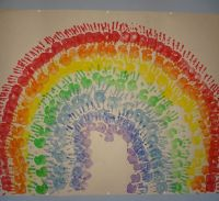 Die besten 17 Ideen zu Regenbogen Bastelarbeiten auf ...
