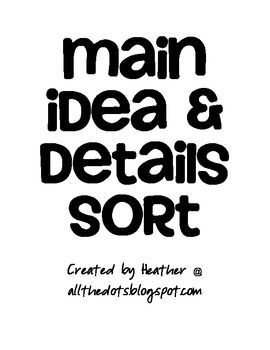 17 Best images about Main Idea and Supporting Details on