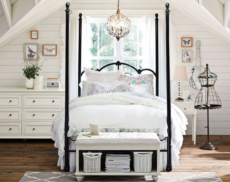 17 Best Ideas About Girls Canopy Beds On Pinterest
