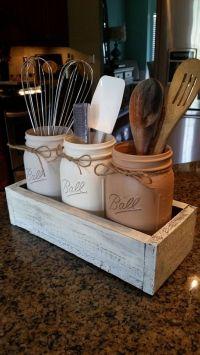25+ best ideas about Utensil holder on Pinterest   Kitchen ...