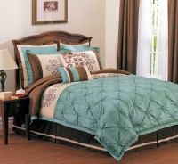 beige brown and teal bedroom decorating | Restful Blue and ...
