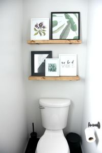 30 Awesome Bathroom Floating Shelves Above Toilet | eyagci.com