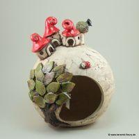 Wichtel-Windlicht - FLEURY - Kreative Keramik fr Haus und ...