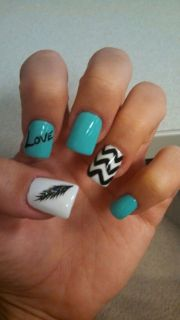 blue chevron ideas