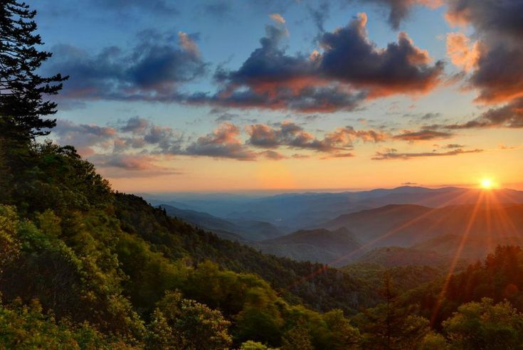 Gatlinburg In The Fall Wallpaper Winter Or Summer Sunsets Smoky Mountain Sunset Engage