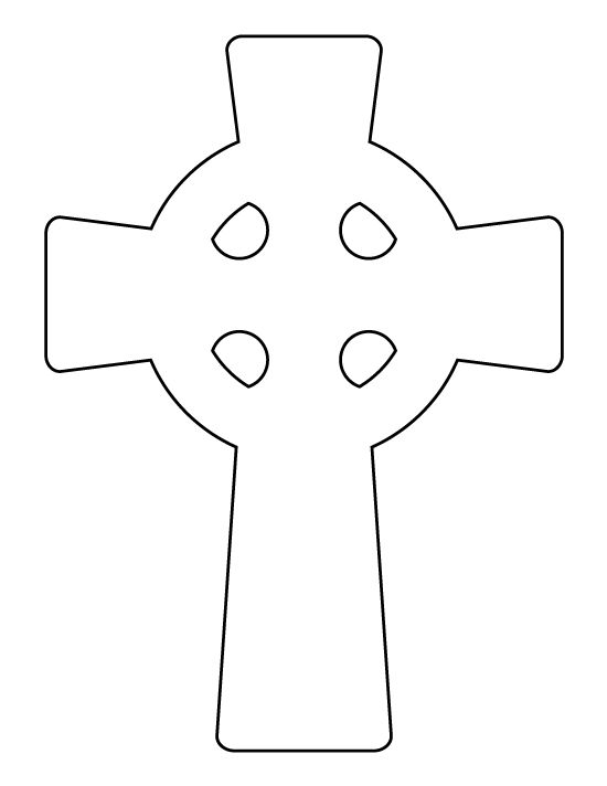 Celtic cross pattern. Use the printable outline for crafts