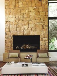 Sandstone fireplace | houghton farmhouse | Pinterest ...