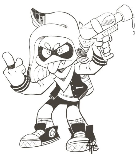 Splatoon Coloring Pages Coloring Pages Auto Electrical
