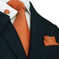 15 Must-see Orange Tie Pins | Mens suits style, Men's ...
