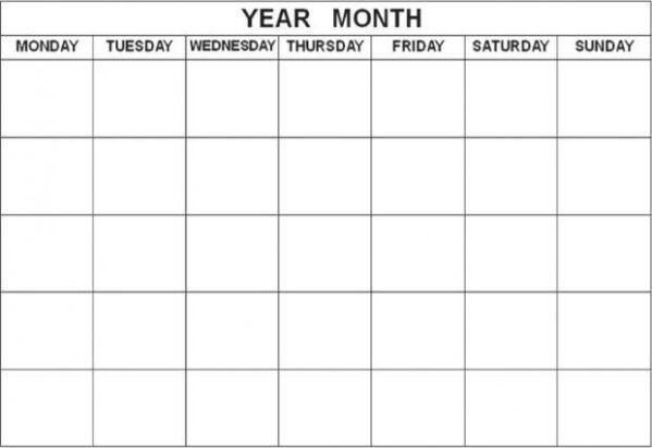 1000 ideas about Blank Calendar on Pinterest Daily