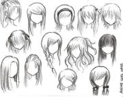 hairstyles draw anime style
