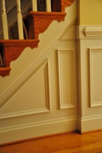faux paneling staircase | Wainscoting and Chair Rails. We ...