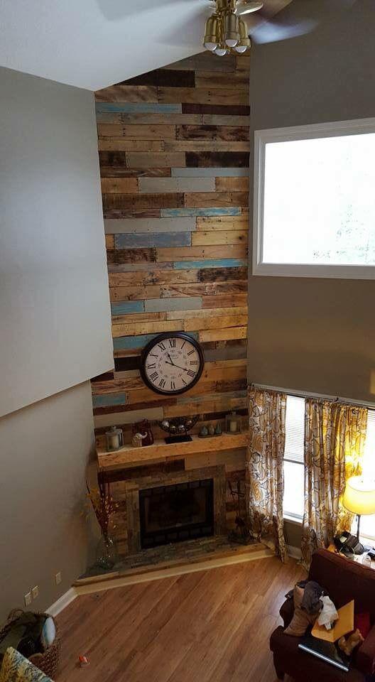 25+ best ideas about Pallet fireplace on Pinterest