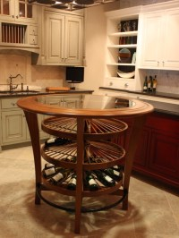Kitchen island wine rack | Stuff | Pinterest | Wine ...