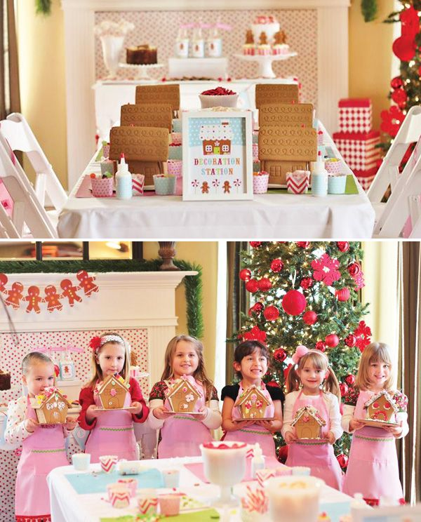 Christmas Gingerbread House Decorating Party House Decor