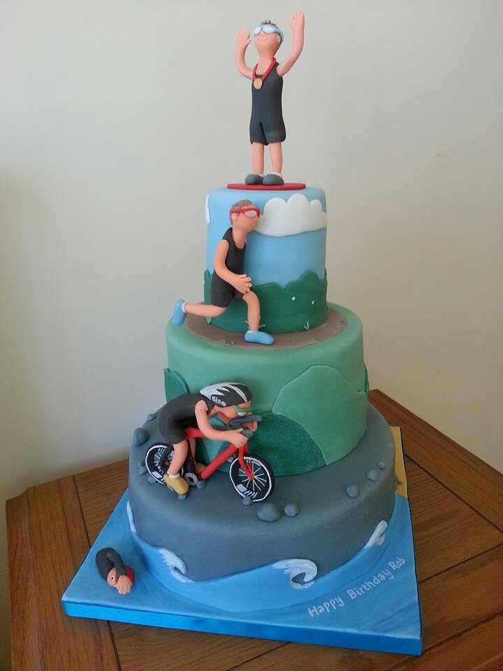 Triathlon Cake Tri Cake Pinterest Maybe Someday I