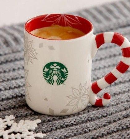 DIY Christmas mugs Starbucks city mug snowflake red