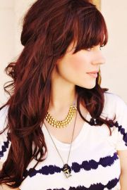 long layered hairstyle with beautiful