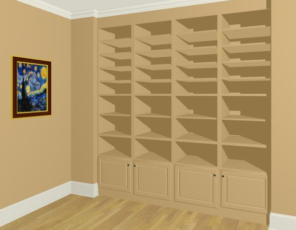 How To Create Built In Wall Bookshelves