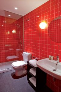 17 Best ideas about Red Bathrooms on Pinterest | The grey ...