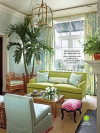 Tropical Living Room.. Colors, couch, tree | Decor ...