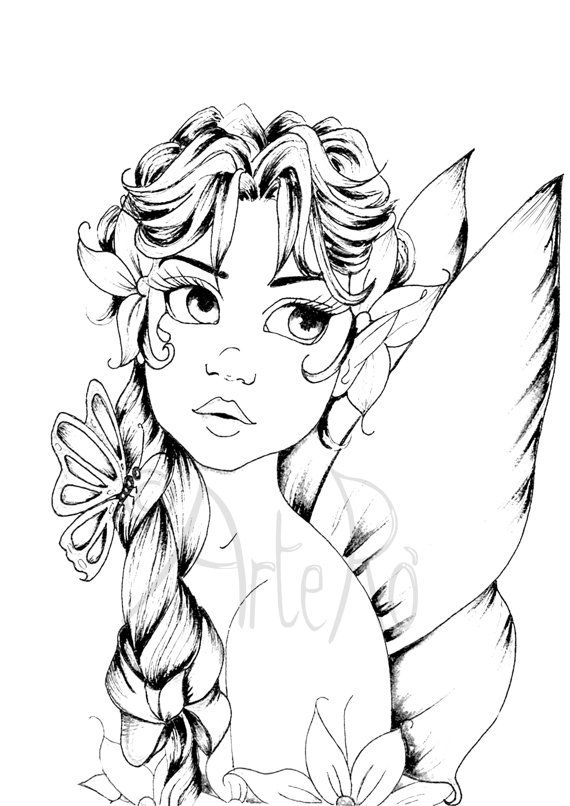Fairy Coloring Pages 74 Picture Image Or Photo